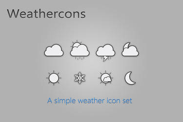 Weathercons by AlexJMiller
