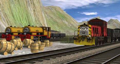 Working at the quarry. by OliverTheGWR14xx11