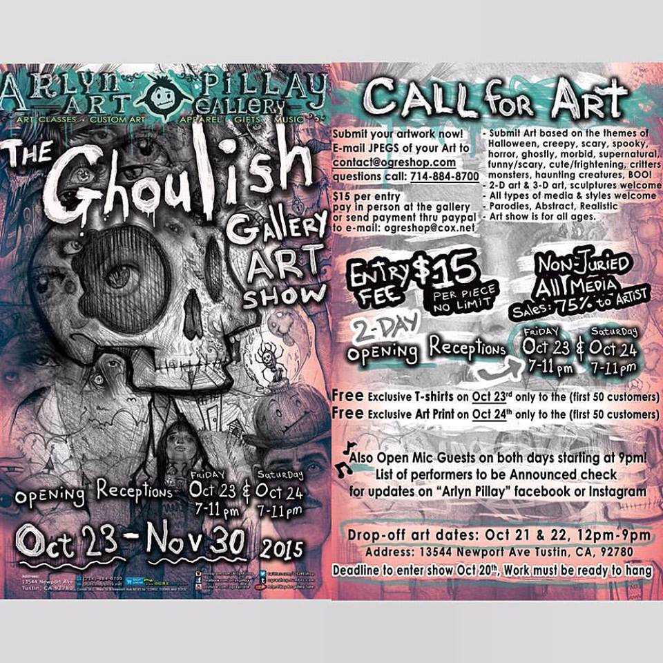 The Ghoulis Gallery Art Show Flyer - Call for ART! by ArlynPillay