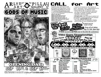 Gods of Music Art Show Flyer by ArlynPillay
