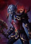 World of Warcraft Death Knight Blood Elf [C]