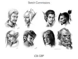 Sketch and Painterly Commissions are OPEN!