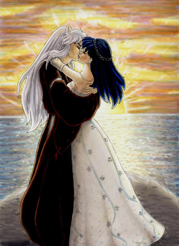 Inuyasha - Lovely Sunset by AngelinaCullen on DeviantArt