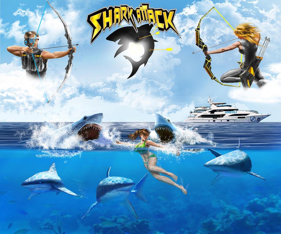Shark attack by XARAB