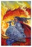 Dragon Knight by JohnShamburger