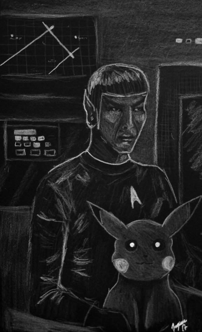 Mister Spock with rather an unusual pet. by Jangsara