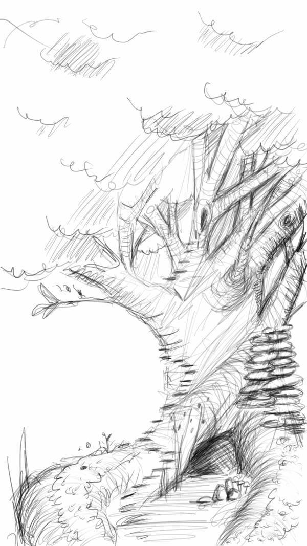 SKETCH A TREE by Phur-eak