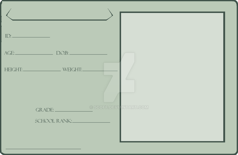 Blank. Identification Card by 5coff on DeviantArt