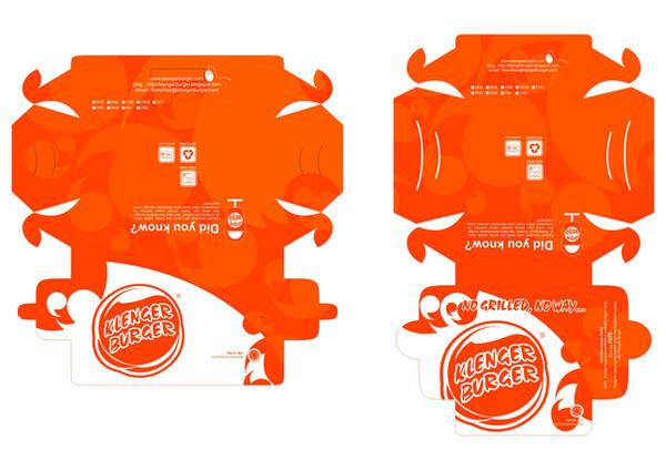 packaging Klenger Burger by delademardeen