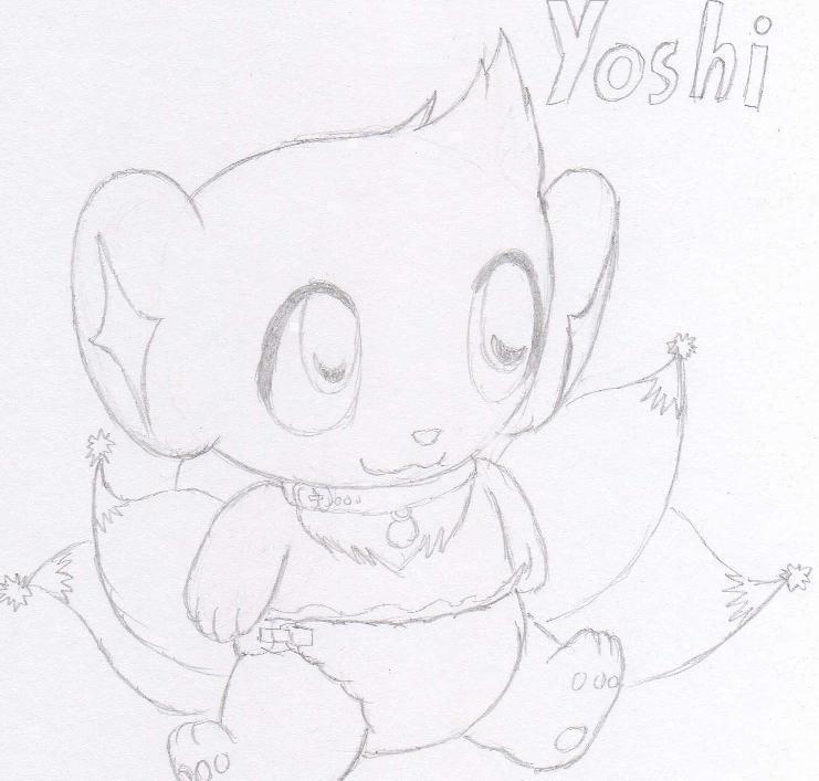 Baby yoshi by Shinxtailbreon