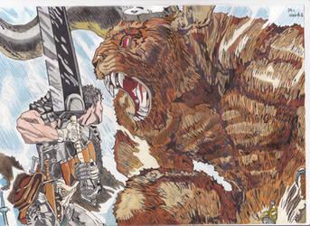 berserk guts vs zodd by demonjester55