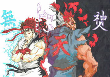 Street Fighter inheritors of the Satsui No Hado by demonjester55