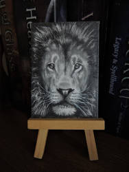 ACEO The Lion's Mane by paintbigflowers
