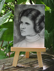 Star Wars Princess Leia Organa ACEO by paintbigflowers