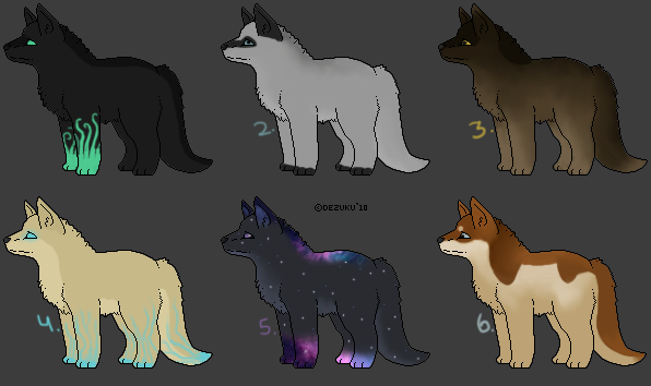 CLOSED ~ 6 Cheap Canine Adoptables by Animal-Canine-Adopts