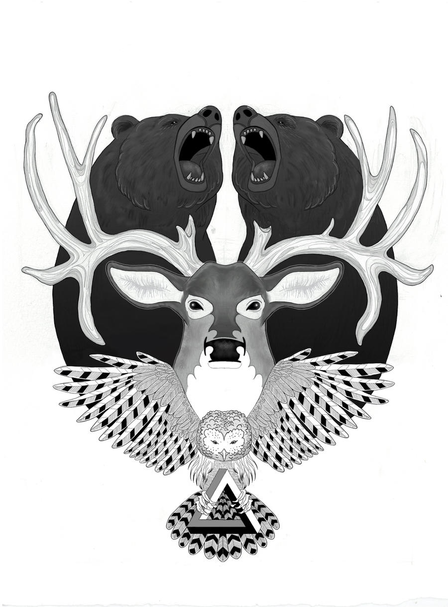 BEAR x DEER x OWL by emimf