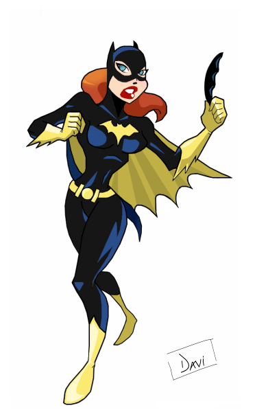 Batgirl Animated black costume by DemonEtrigan on DeviantArt