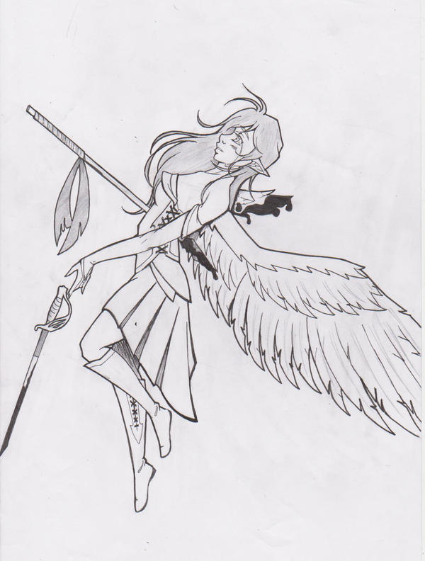 Some Angel Warrior by Silvaines