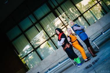 Dragon Ball Z Cosplay - Krillin n' 'Droids by SketchyRian