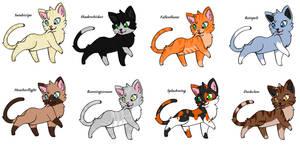 Warrior Cat Adoptables #1 ~CLOSED~ by JaystarNZ