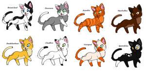 Warrior Cat Adoptables #2 ~CLOSED~ by JaystarNZ