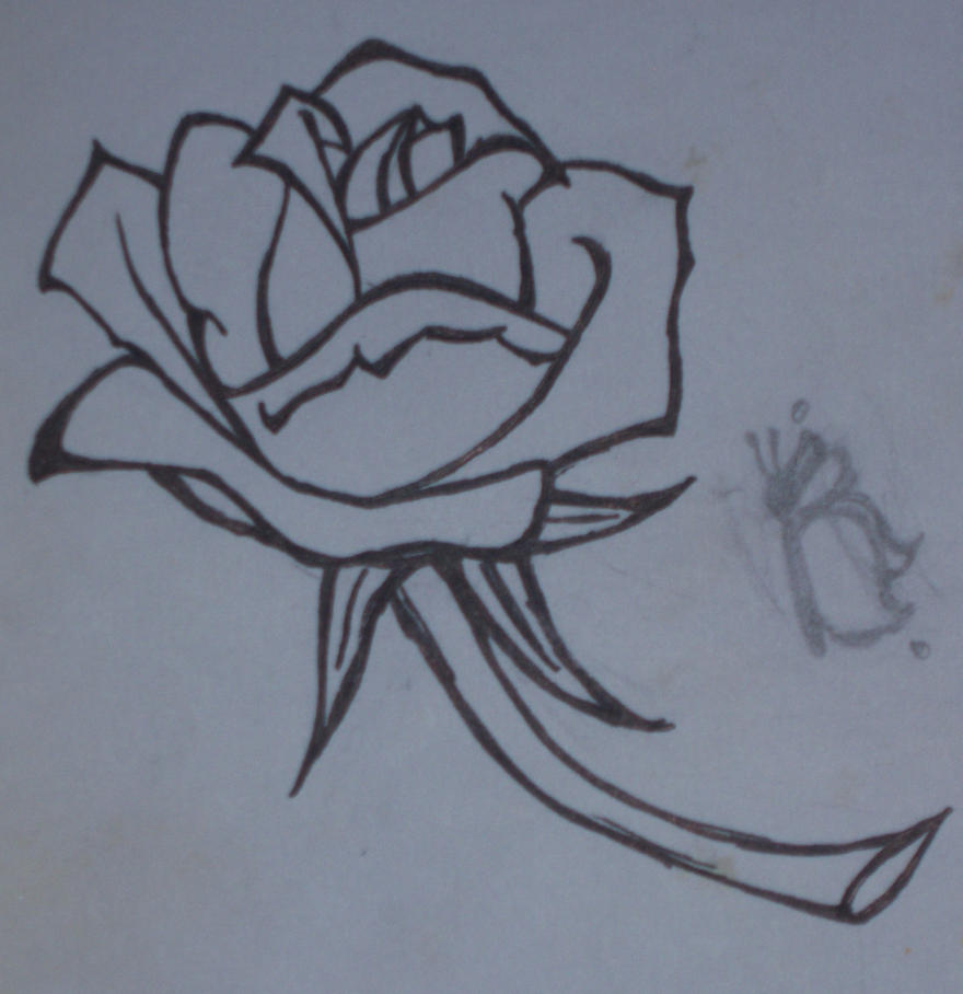 Rose Line Drawing Easy : Anna s rose line drawing by fritogyrl on deviantart