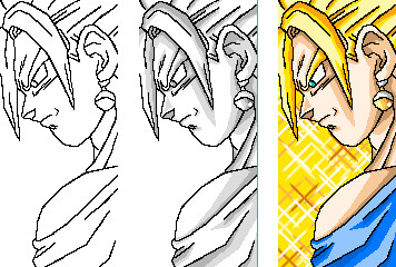 How to color - Vegetto UC by JaworPL