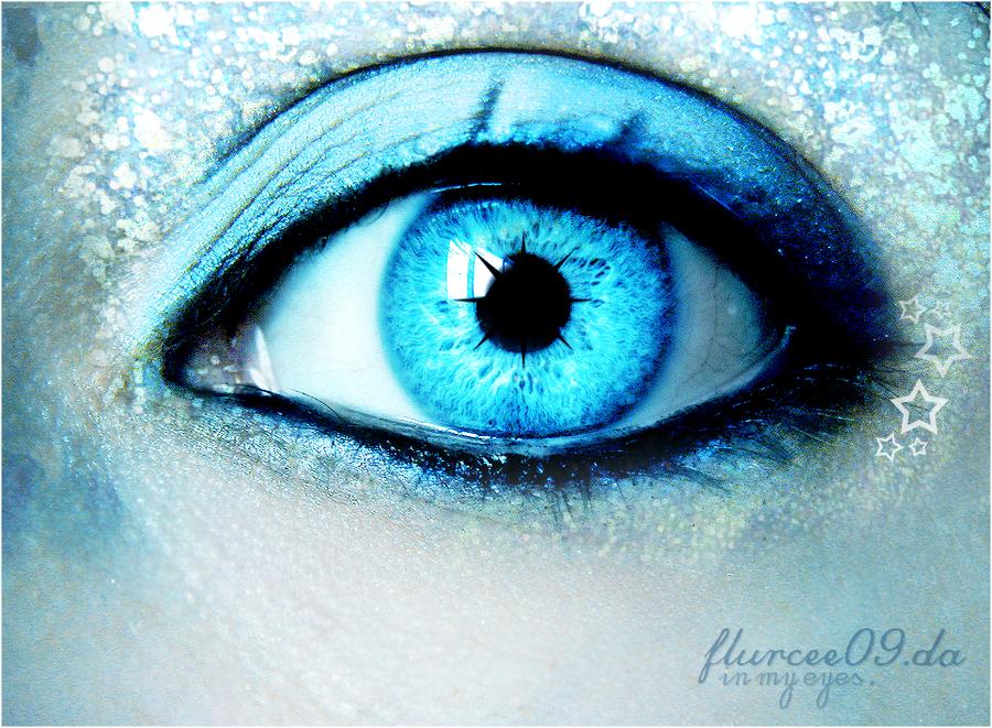 In an Ice Fairy's Eye by flurcee09 on DeviantArt Human Ice Blue Eyes