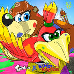 If Splatoon cross with Banjo-Kazooie