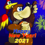 Happy New Year from Banjo-Kazooie!! by TaylorSwitch64