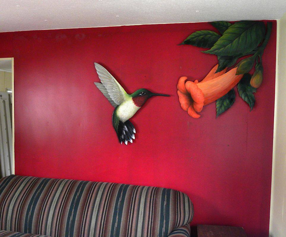Large floating Hummingbird painting by D-E-V-I-A-N-T-A-R-T