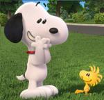 Peanuts Movie Snoopy Woodstock laugh