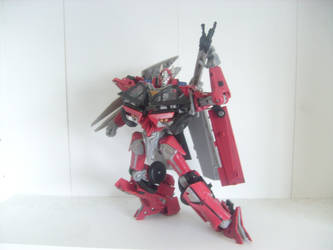 Sentinel Prime Fire Hose Pose by Kirby-Force