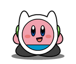 Kirby Adventure Time: Finn the Human