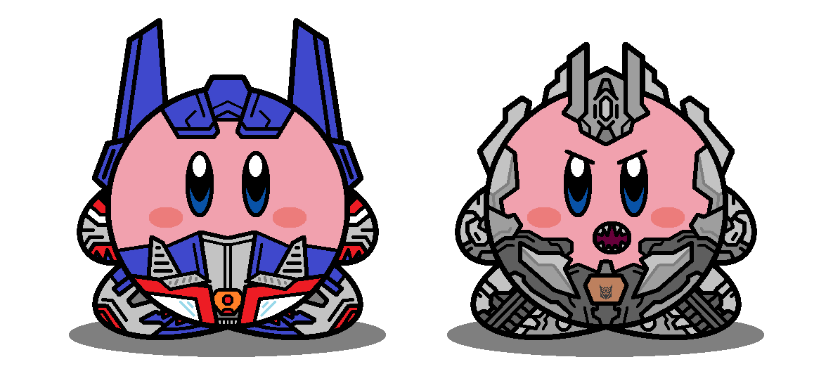 Kirbyformers 3: Optimus and Megatron (Movie) by Kirby-Force