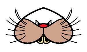 Upside down cat mouth by Kirby-Force