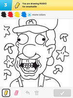Draw Something - Mario by Kirby-Force