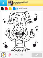 Draw Something - Ballet by Kirby-Force