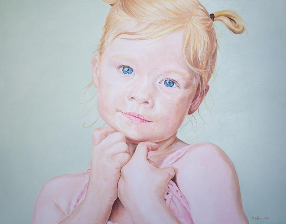 Child Portrait in Oils 2013