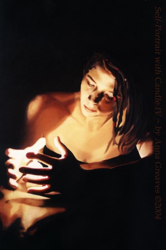 Self Portrait with Candle IV by AnnaGilhespy