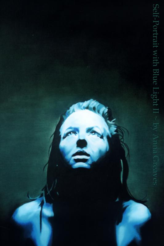 Selfportrait with BlueLight II by AnnaGilhespy