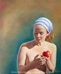 Selfportrait with Apple 2