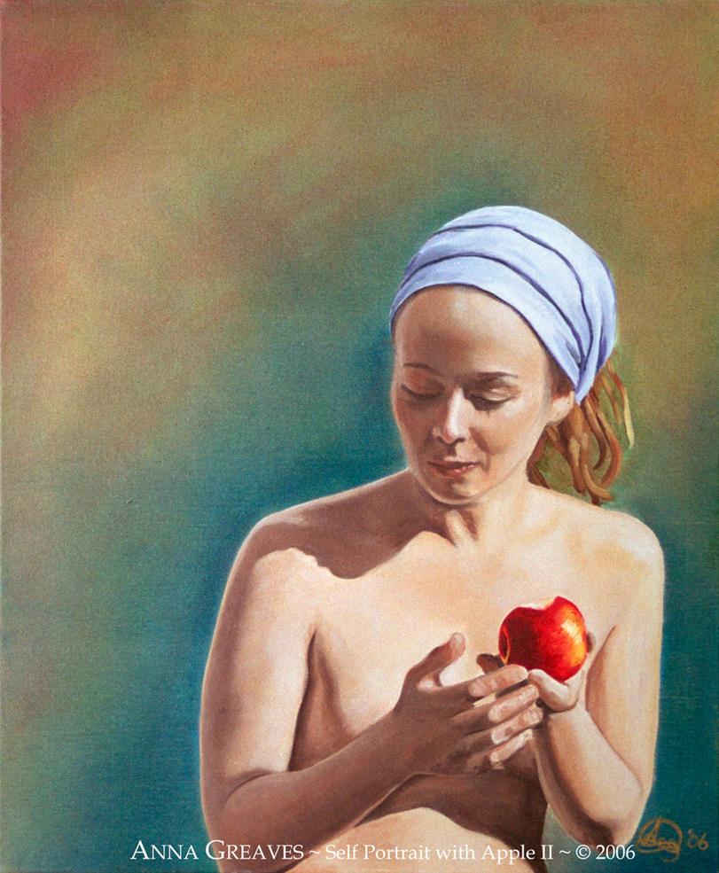 Self Portrait with Apple II by AnnaGilhespy