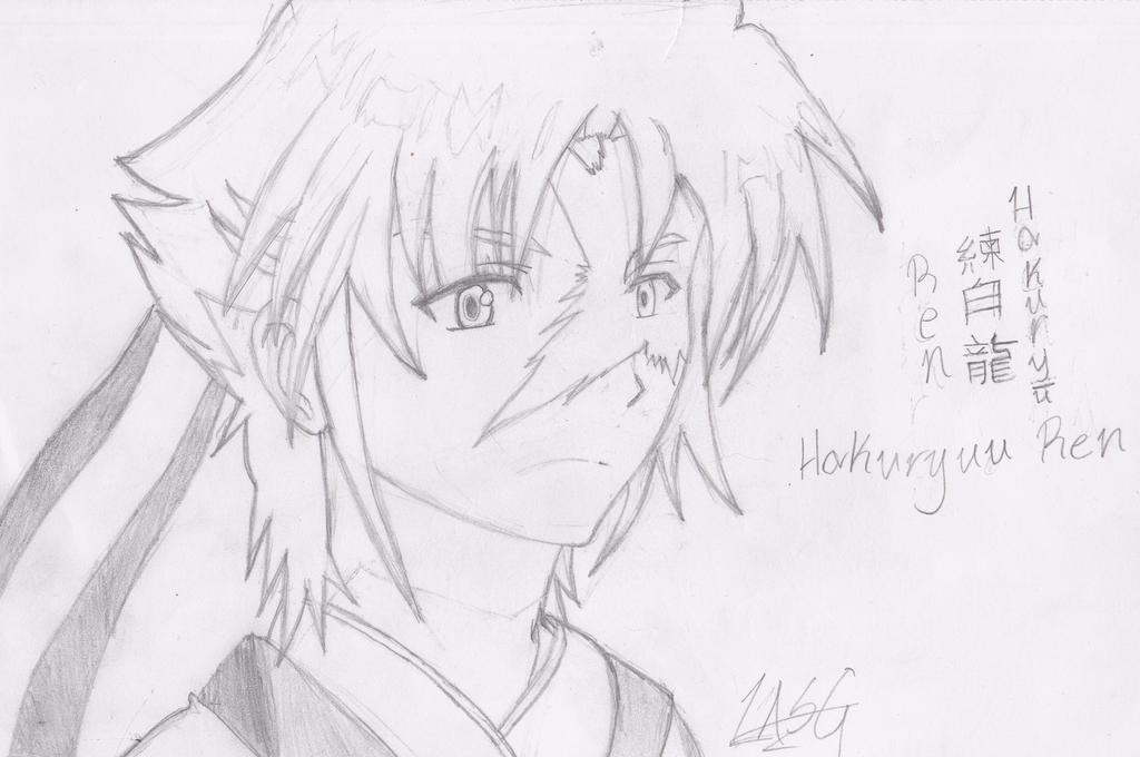 Magi-Hakuryuu Ren(Sketch) by RockingGamerGirl