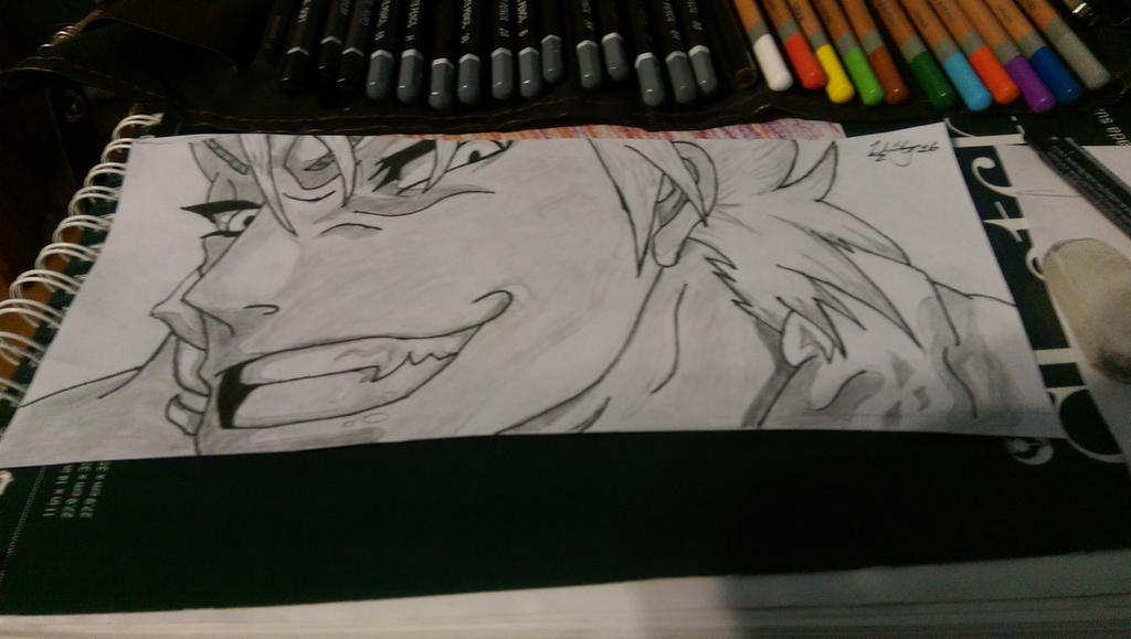 Grimmjow Jaegerjaquez Sketch[Bleach] by RockingGamerGirl