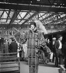 Ms. Lucille Ball At The Train Station