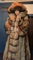 Britt Ekland Huge Fur Hood by FurLover01