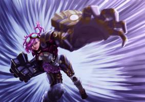 Vi the Piltover Enforcer by Archiri