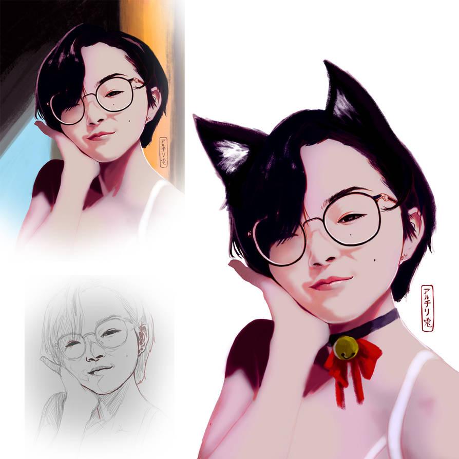 study portrait by Archiri