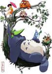 Tonari to Totoro by Archiri